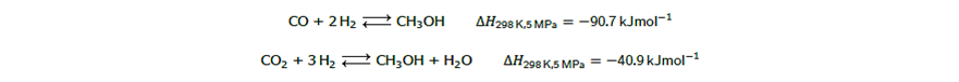 تغییر فرم گاز طبیعی به وسیله ی بخار و سپس تقطیر مخلوط گازی حاصل برای دست یافتن به متانول خالص 1