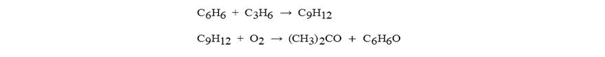فرمول-واكنش بنزن و پروپيلن در حضور اكسين براي توليد استون و فنل-روش كيومن (فروش استون كمهو)
